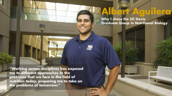 "Albert Aguilera - Why I chose GGNB - ""Working across disciplines has exposed me to different approaches to the problems that we face in the field of nutrition today, preparing me to take on the problems of tomorrow."""