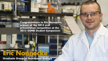 Eric Nonnecke - Congratulations to Eric Nonnecke, winner of the 2015 oral presentation competition at the 2015 GGNB Symposium