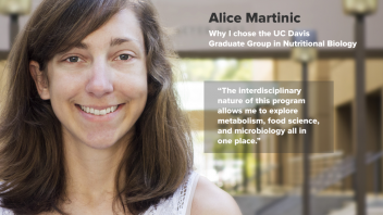 "Alice Martinic - Why I chose GGNB - ""The interdisciplinary nature of this program allows me to explore metabolism, food science, and microbiology all in one place."""