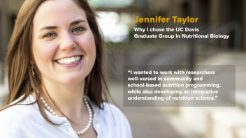 "Jennifer Taylor - Why I chose GGNB - ""I wanted to work with researchers well versed in community and school-based nutrition programming, while also developing an integrative understanding of nutrition science"""