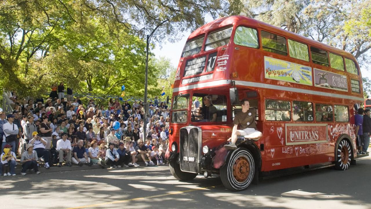 UC Davis Double Decker Bus