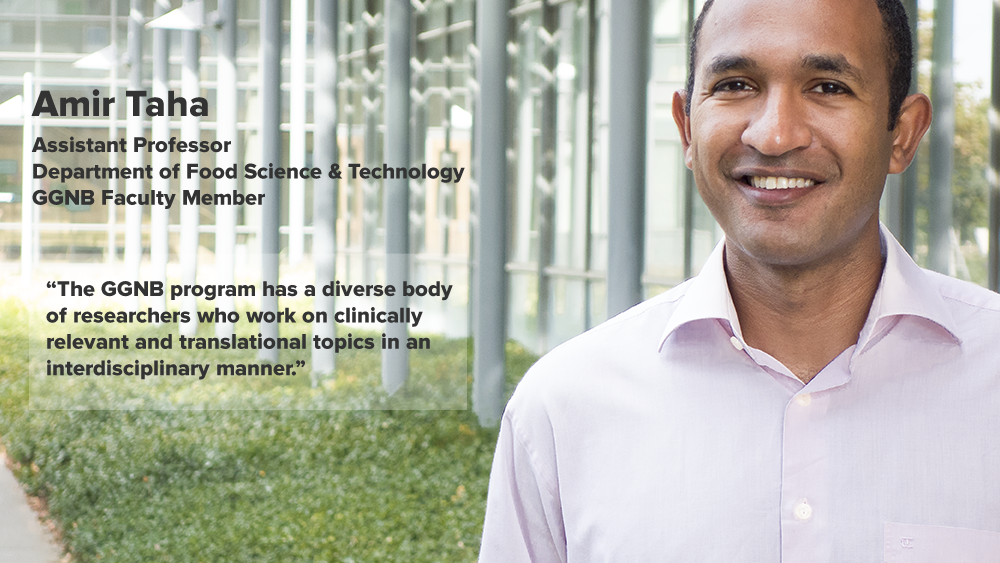 "Ameer Taha - Why I chose GGNB - ""The GGNB program has a diverse body of researchers who work on clinically relevant and translational topics in an interdisciplinary manner."""