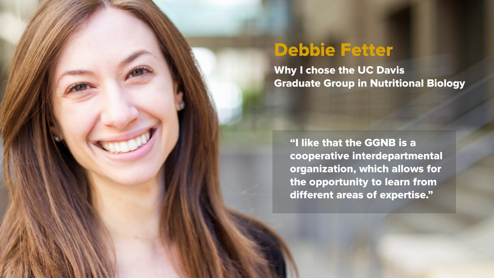"Debbie Fetter - Why I chose GGNB - ""I like that the GGNB is a cooperative interdepartmental organization, which allows for the opportunity to learn from different areas of expertise"""